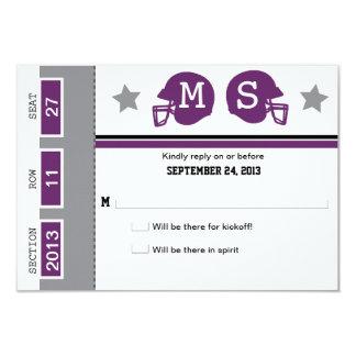 Fußball-Karten-Hochzeit UAWG 8,9 X 12,7 Cm Einladungskarte