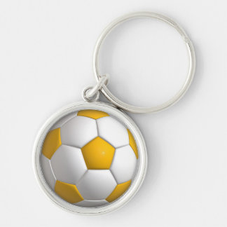 """Fußball kleines (1,44"""") erstklassiges rundes schlüsselanhänger"""