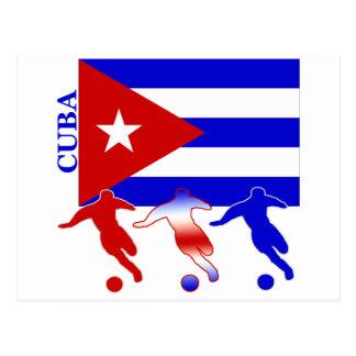 Fußball Kuba Postkarte