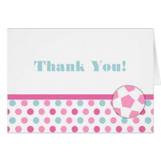 Fußball-Mädchen-Geburtstag danken Ihnen Grußkarte