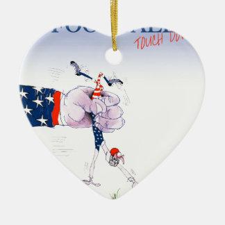 Fußball setzen, tony fernandes auf keramik Herz-Ornament