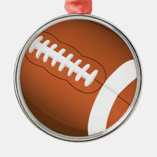 Fußball trägt Bildungs-Trainer-Team-Spiel-Feld zur Rundes Silberfarbenes Ornament