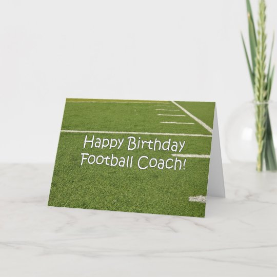 Fussball Trainer Alles Gute Zum Geburtstag Auf Karte Zazzle At
