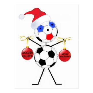 Fußball-Weihnachten Postkarte