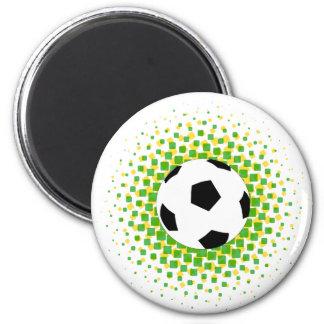 Fußballgrün und -GELB Runder Magnet 5,7 Cm