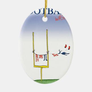 Fußballwäschetag, tony fernandes ovales keramik ornament