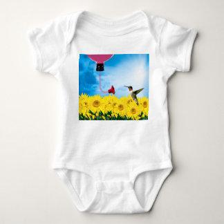 Füttern des Kolibris Baby Strampler