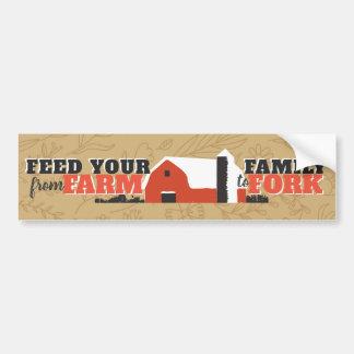 Füttern Sie Ihre Familie von Bauernhof zu Autoaufkleber