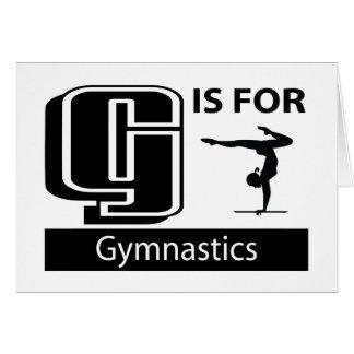 G ist für Gymnastik Karte