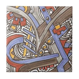 Gabel in der Straße-Abstrakten geometrischen Fliese