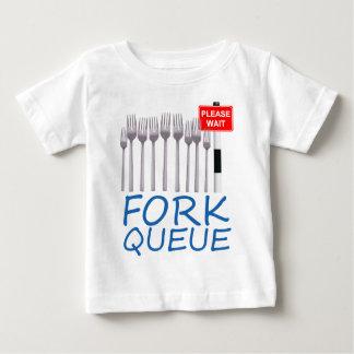 Gabel-Reihe Baby T-shirt