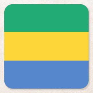 Gabun-Flagge Rechteckiger Pappuntersetzer