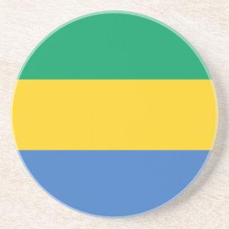 Gabun-Flagge Untersetzer