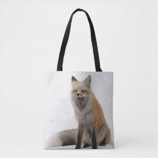 gähnende Fuchstasche, Fuchs-Tasche, Fuchskäufer,