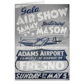 Gala-Flugschau-Vintage Luftfahrt-Gruß-Karten Grußkarte