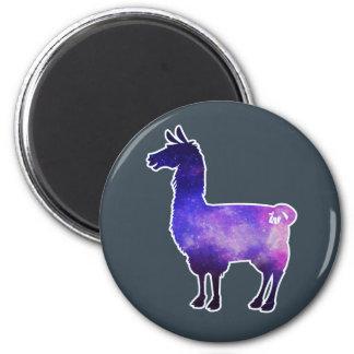 Galaktischer Lama-Magnet Runder Magnet 5,1 Cm