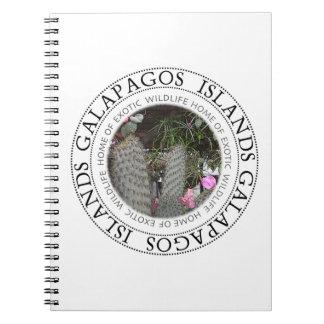 Galapagos-Inseln, die Kaktus-Notizbuch blühen Spiral Notizblock