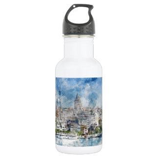 Galata Turm in Istanbul die Türkei Trinkflasche