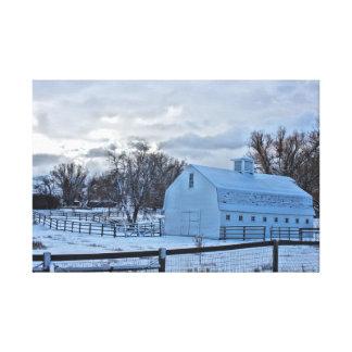 Galatin Ranch-Scheune Leinwanddruck