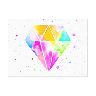 Galaxie-Diamant Gespannter Galerie Druck