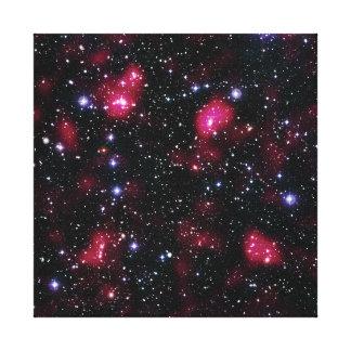 Galaxie-Gruppe Abell 901/902 Hubble Raum-Foto Leinwanddruck
