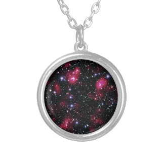 Galaxie-Gruppe Abell 901/902 Hubble Raum-Foto Versilberte Kette