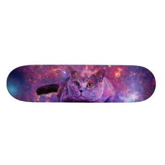 Galaxie-Katzen-Skate-Plattform Personalisiertes Skateboarddeck