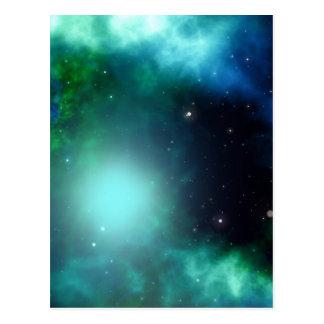 Galaxie Postkarte
