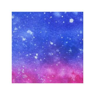 Galaxie-Wasserfarbe Leinwanddruck