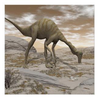 Gallimimus Dinosaurier - 3D übertragen Poster