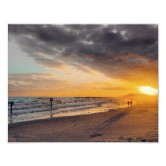 Galveston Sonnenuntergang Kunstfotos