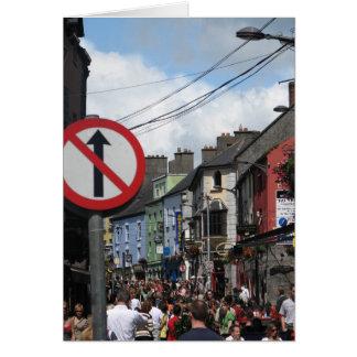 Galway, Irland Grußkarte