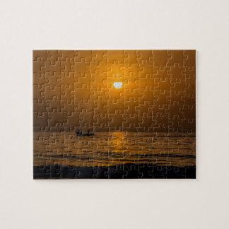 Gambia-Sonnenuntergang Puzzle