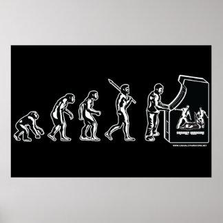 Gamer-Evolutions-Plakat - Videospiel-SpielArcade