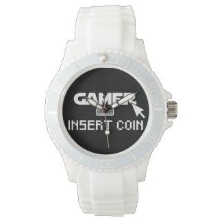 Gamereinsatzmünze Armbanduhr
