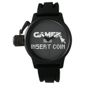 Gamereinsatzmünze Uhr