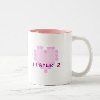 Gamers in der Liebe - Spieler 2 Zweifarbige Tasse