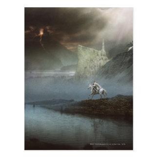 Gandalf nimmt Hobbits zu vorsichtiger Stadt Postkarten