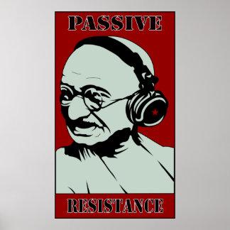 Gandhi Musik rettet uns Plakat