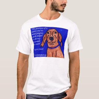 Gandhi Zitat auf Tierschutz T-Shirt