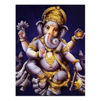 Ganesh Ganesha asiatischer Elefant-Gottheit Postkarte