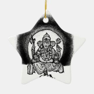 ganesh keramik Stern-Ornament