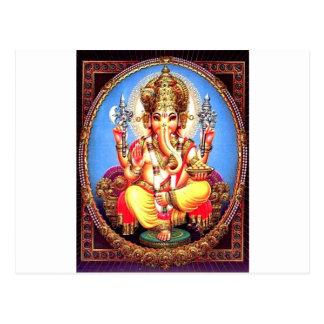 Ganesha (गणेश) indischer Elefant Postkarte