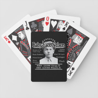 Gangster-Baby-Gesicht Nelson Poker Karten