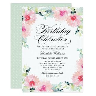 Gänseblümchen-Aquarell der 12,7 X 17,8 Cm Einladungskarte