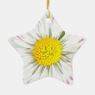 Gänseblümchen-Blume Dble-Versah Stern-Verzierung Keramik Stern-Ornament
