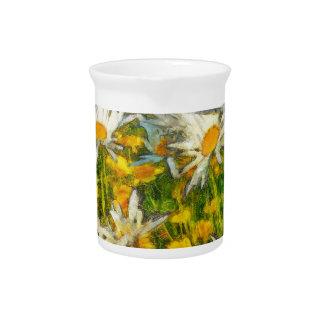 Gänseblümchen-Blumen Getränke Pitcher