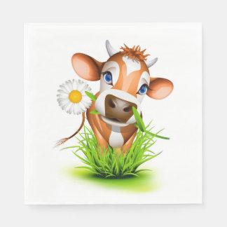 Gänseblümchen die Kuh-Mittagessen-Papierservietten Papierservietten