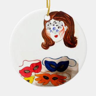 Gänseblümchen Facepainting Verzierung Rundes Keramik Ornament
