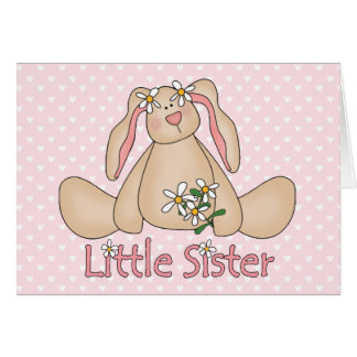 Gänseblümchen-Häschen-kleine Schwester Karte